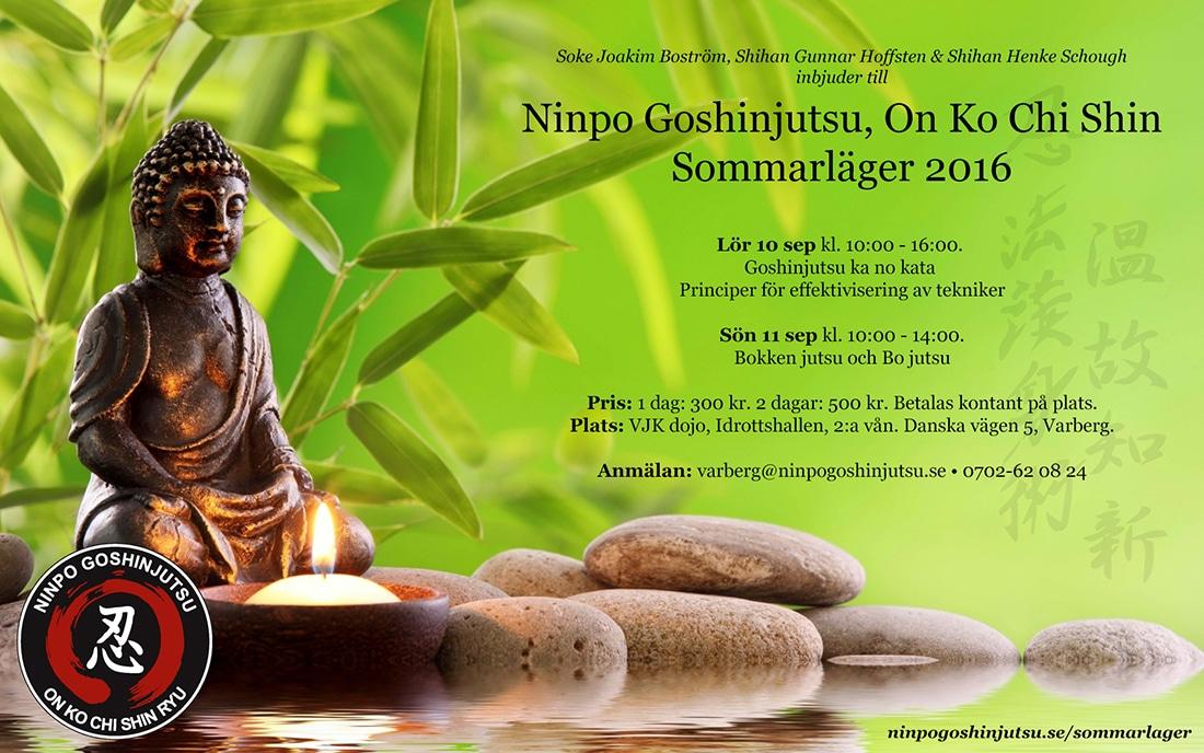 Inbjudan Sommarläger 2016 - Ninpo Goshinjutsu, on ko chi shin